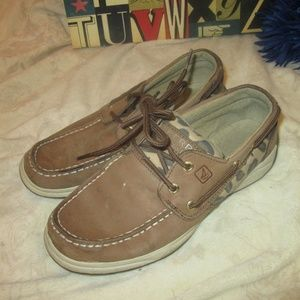 Sperry Top Sider Loafers Girl's Size 4 Leopard
